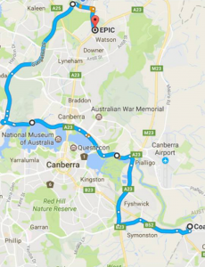 Canberra Convoy Route